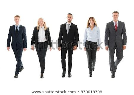 Retrato empresario caminando blanco negocios sonrisa Foto stock © wavebreak_media
