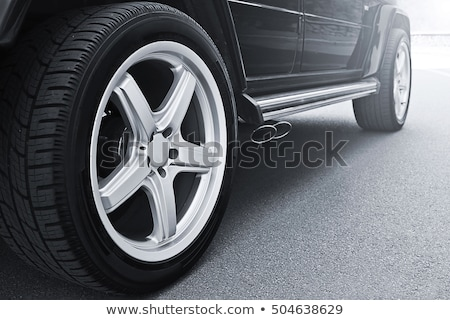Car tire with rim on a white background Stock photo © shutswis