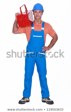 craftsman with tool box over his shoulder stock photo © photography33