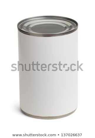 konzervdoboz · konzerv · izolált · fehér · stúdiófelvétel · vágási · körvonal - stock fotó © EwaStudio