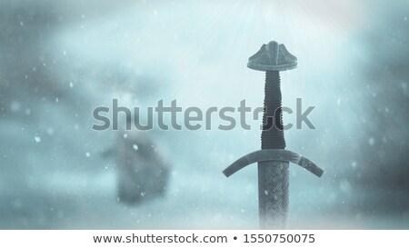 Crossed sword - 3D render Stock photo © Elenarts