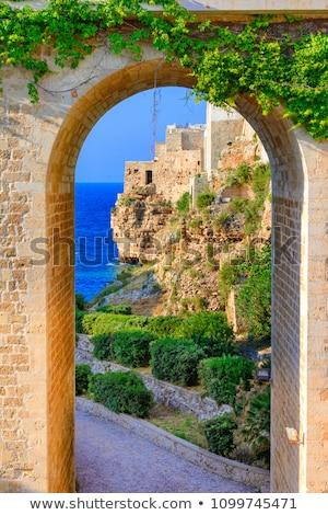 Manzara güney İtalya dağlar yok eski Stok fotoğraf © vavlt