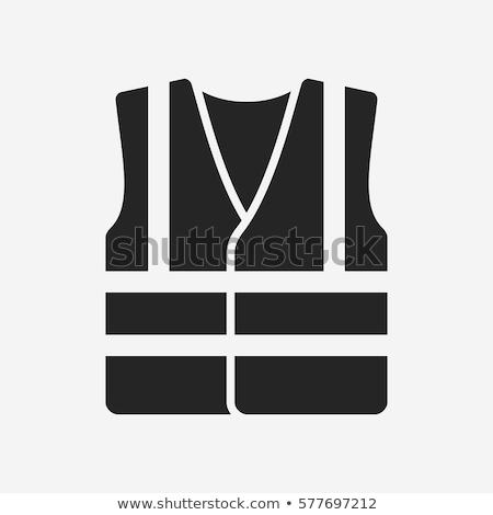 Vektor ikon mentőmellény biztonság széf biztonságos Stock fotó © zzve