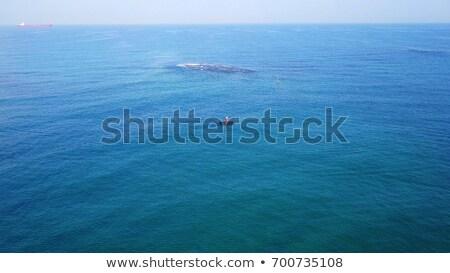 Vista lateral hombre pie rafting bordo arte Foto stock © zzve