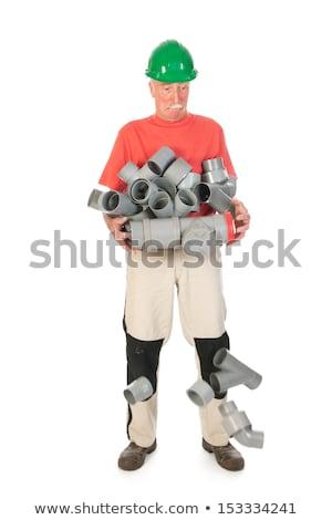 Karışık komik tesisatçı düşen borular Stok fotoğraf © ivonnewierink