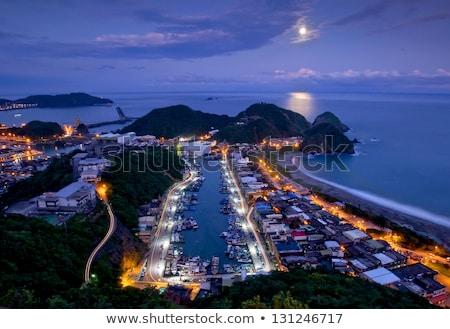 Porta Taiwan famoso pescaria praia nuvens Foto stock © elwynn