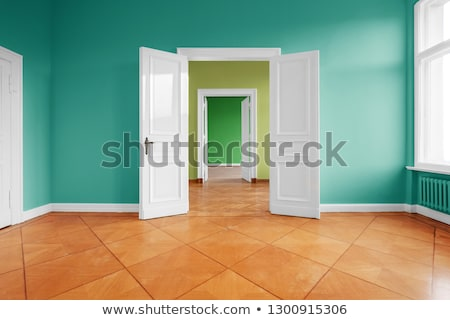 yellow and green wooden wall Stock photo © antonihalim