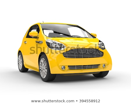 Moderne compact auto geïsoleerd witte reizen Stockfoto © Supertrooper