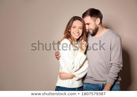 kaukasisch · model · Geel · blouse · rok - stockfoto © elnur