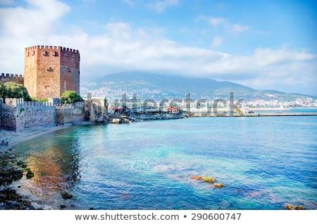 turco · cidade · água · casa · árvore · edifício - foto stock © kravcs