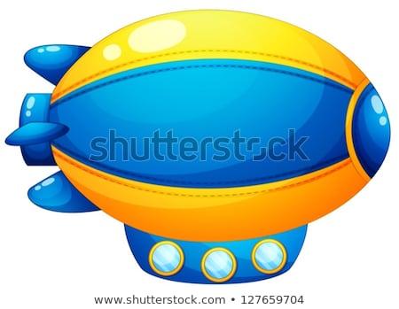 Cartoon sterowiec ilustracja czerwony żółty niebieski Zdjęcia stock © bruno1998