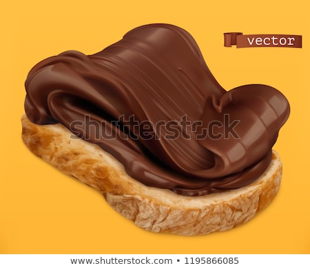 chocolate · café · da · manhã · sobremesa · creme · fundo · branco - foto stock © M-studio