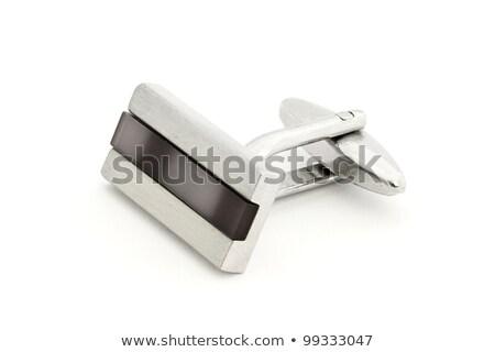 Stok fotoğraf: Gümüş · manşet · bağlantı · beyaz