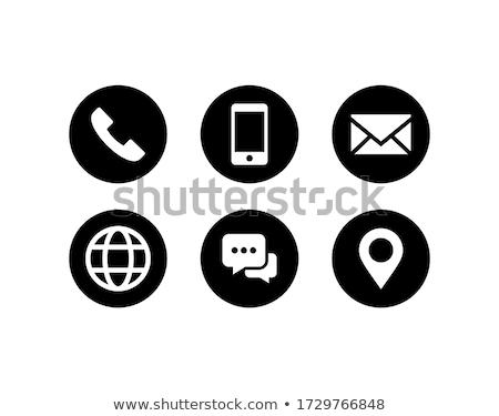 アイコン インターネット にログイン 連絡 ウェブ ストックフォト © Wetzkaz