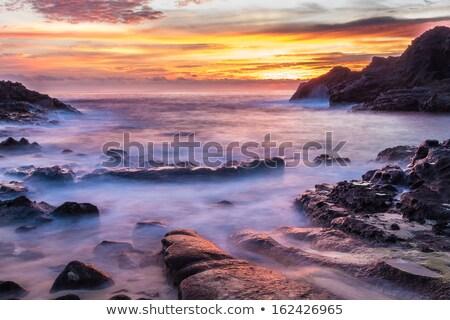 Sunrise bella eternità spiaggia cielo Foto d'archivio © LAMeeks