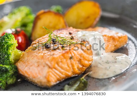 salmon and dill Stock photo © M-studio