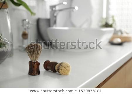 男 · 泡 · ポップアート · レトロスタイル · 個人衛生 · 午前 - ストックフォト © perysty