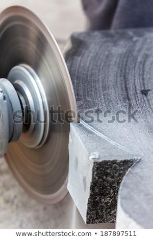 rough machining of solid stone grinder Stock photo © OleksandrO