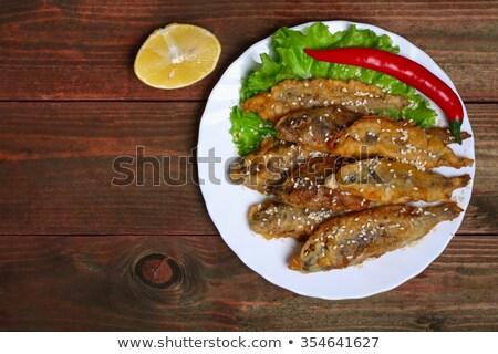 frit · plaque · poissons · citron · malaga · alimentaire - photo stock © nito