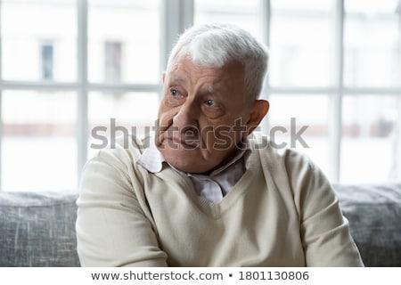 Starszy człowiek patrząc rozczarowany smutne portret Zdjęcia stock © bmonteny
