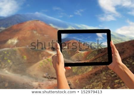 paisagem · vulcão · ilha · sicília · belo · Itália - foto stock © smuki