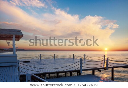 Sailboats on pier Stock photo © trexec