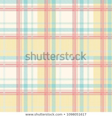 közelkép · kockás · textil · szövet · textúra · ruházat - stock fotó © zerbor