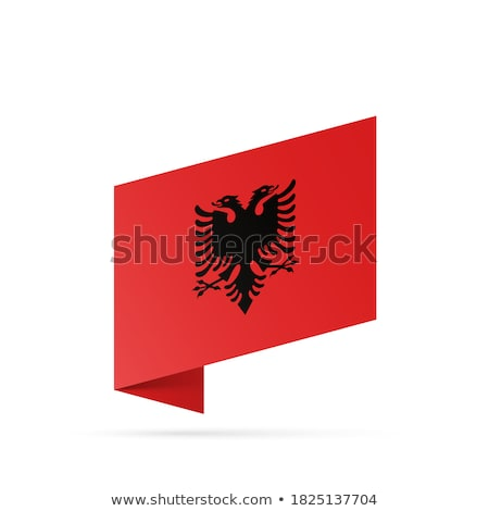 map on flag button of republic of albania stock photo © istanbul2009