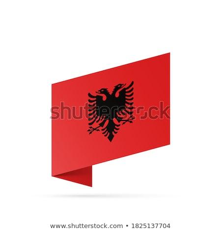 Mapa bandera botón república Albania ilustración Foto stock © Istanbul2009