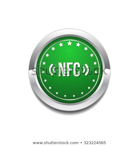 NFC Circular Vector Green Web Icon Button Stock photo © rizwanali3d