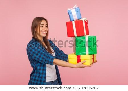 présents · petite · fille · Noël · Homme · mains - photo stock © pressmaster