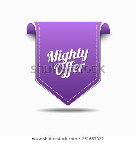 могущественный предлагать Purple вектора икона дизайна Сток-фото © rizwanali3d
