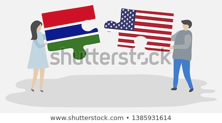 usa and gambia flags in puzzle stock photo © istanbul2009