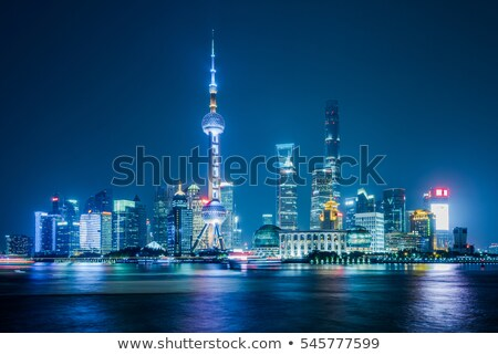 Beautifully Lit Cityscape in Asia at Night Stock photo © pzaxe