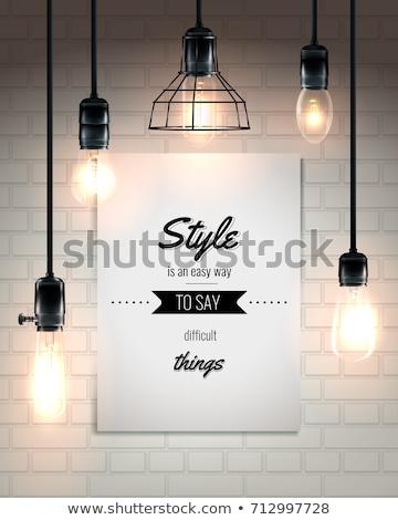 Draad frame licht bron 3D objecten Stockfoto © cteconsulting