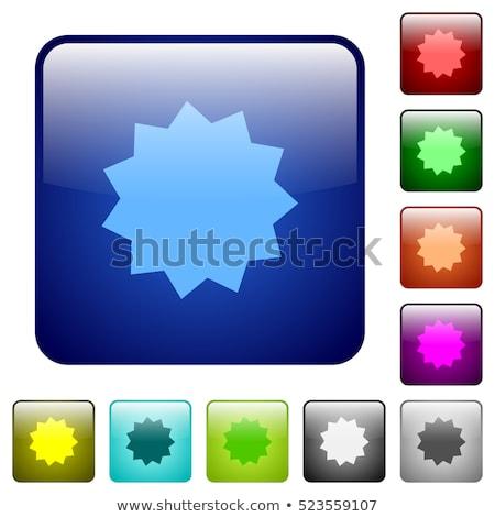 Garantie garantir sceau carré vecteur orange Photo stock © rizwanali3d