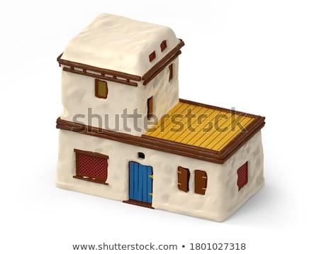 ストックフォト: 白 · 建物 · エジプト · 小 · 側面図