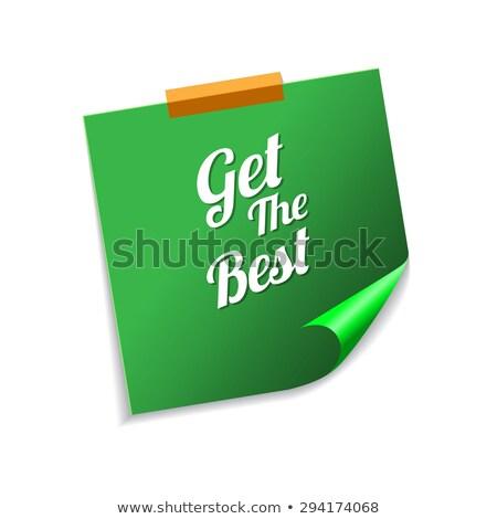 Meilleur vert sticky notes vecteur icône design Photo stock © rizwanali3d