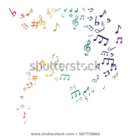 Hangjegyek zöld vektor ikon terv technológia Stock fotó © rizwanali3d