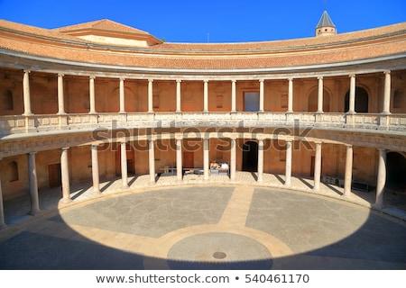 колонн внутри дворец Альгамбра Испания Сток-фото © rmbarricarte