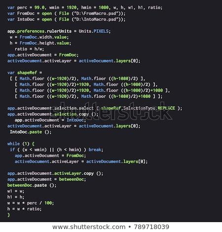 Java kódolás üzletember kéz internet technológia Stock fotó © georgejmclittle