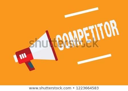 бить Конкуренты сообщение мужчины рук служба Сток-фото © fuzzbones0