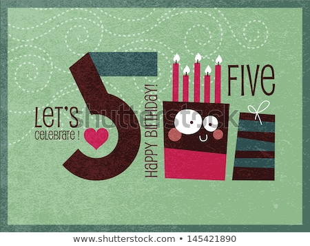 grunge paper ribbon numbers font stock photo © orson