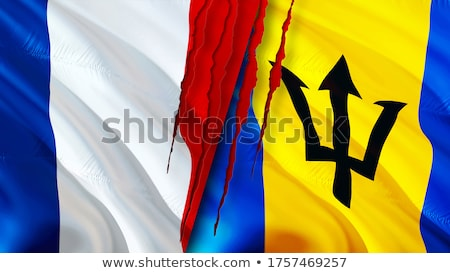 France and Barbados Flags Stock photo © Istanbul2009