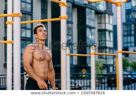 Hombre desnuda torso concretas pared Foto stock © bezikus