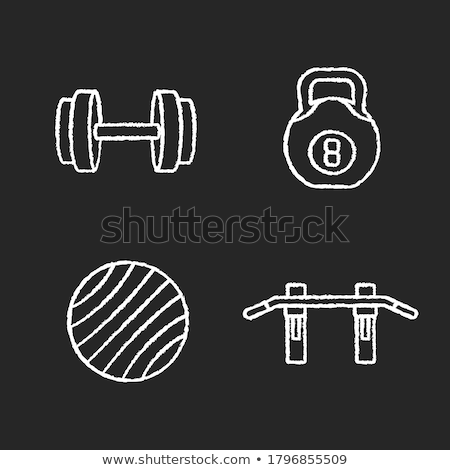 гимнаст Бар икона мелом рисованной Сток-фото © RAStudio