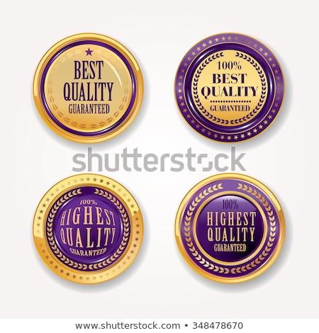 Medal Purple Vector Icon Button Stock photo © rizwanali3d