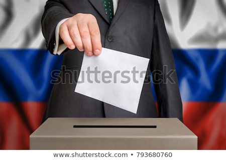 Man stemmen vak Rusland partij Stockfoto © Zerbor