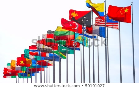 Turkey and Papua New Guinea Flags Stock photo © Istanbul2009