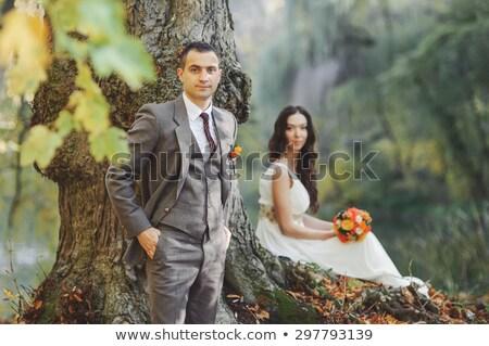 fiance at tree Stock photo © Paha_L